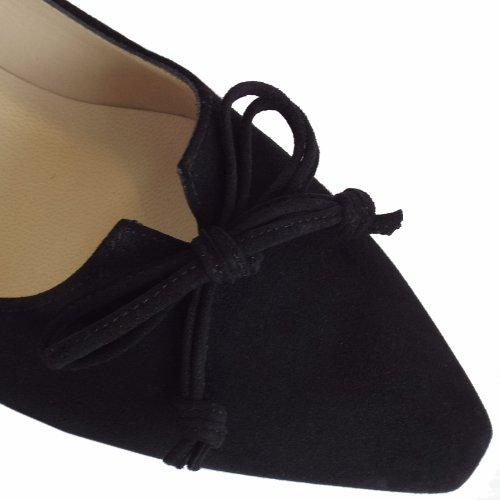 541ada492e5f ... Lizzy Black Suede Low Heel Pointed Toe Pumps. ‹