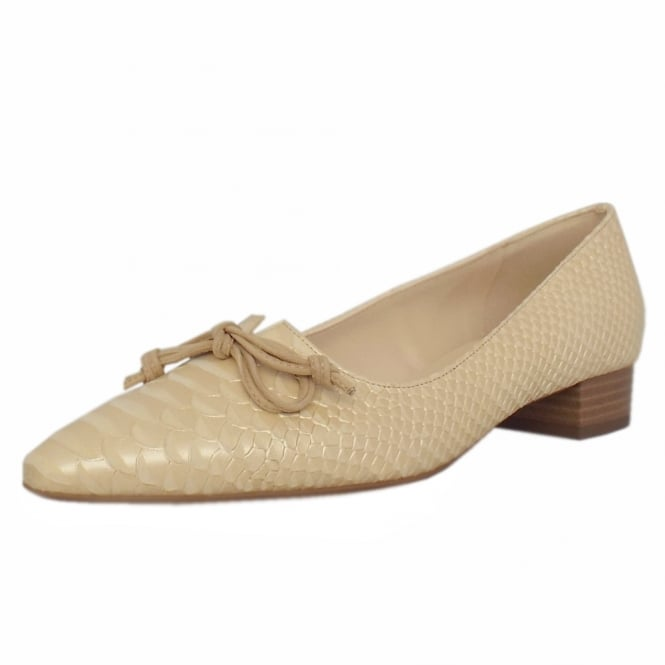 Lizzy Sabbia Birman Leather Pointed Toe Ballet Pumps