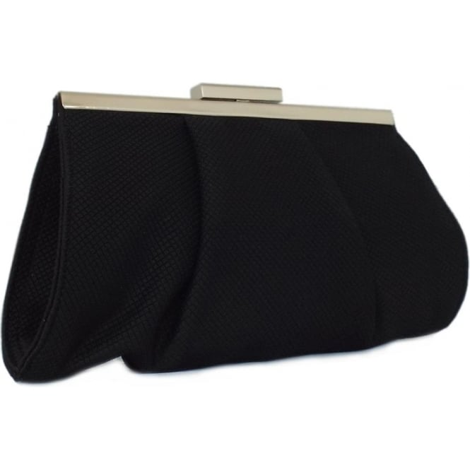 Lomasi Black Rombo Textile Small Clutch Bag