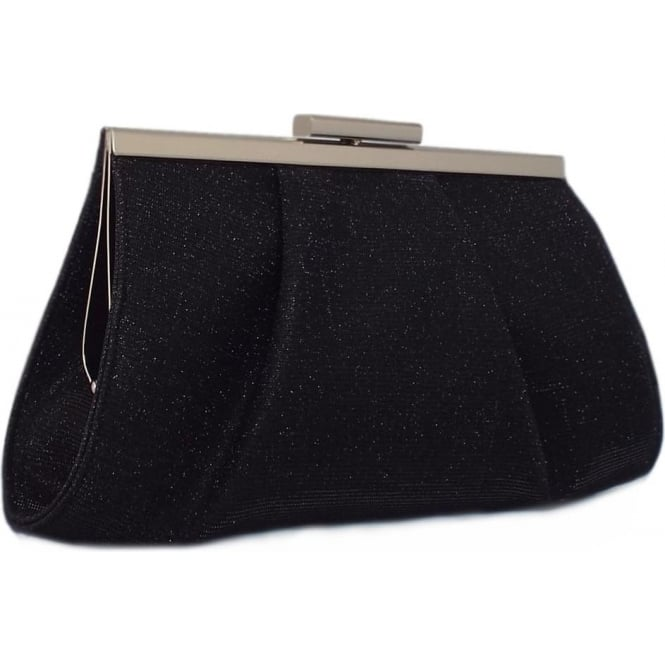 Lomasi Black Shimmer Small Clutch Bag