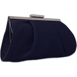 Lomasi Navy Rombo Textile Small Clutch Bag