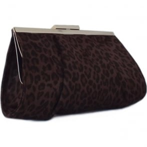 Lomasi Nuba Leon Suede Small Clutch Bag
