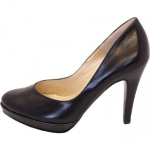 Lukrezia black leather stilettos