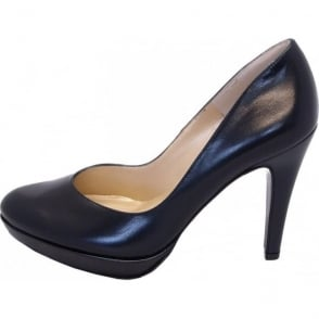 Lukrezia navy leather stilettos