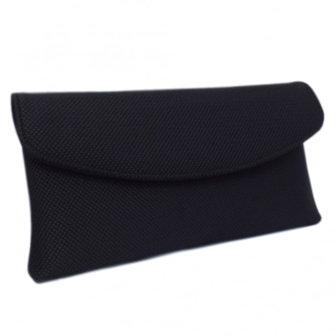Mabel Black Rombo Clutch Bag