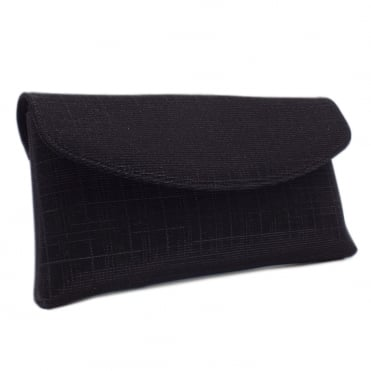 Mabel Black Shimmer Clutch Bag