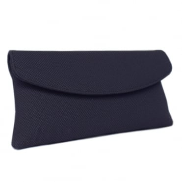 Mabel Navy Rombo Clutch Bag