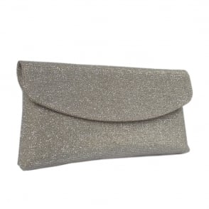 Mabel Sand Shimmer Clutch Bag