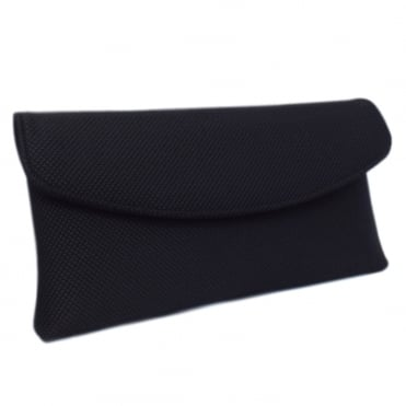 Mabel Stylish Clutch Bag in Black Rombo