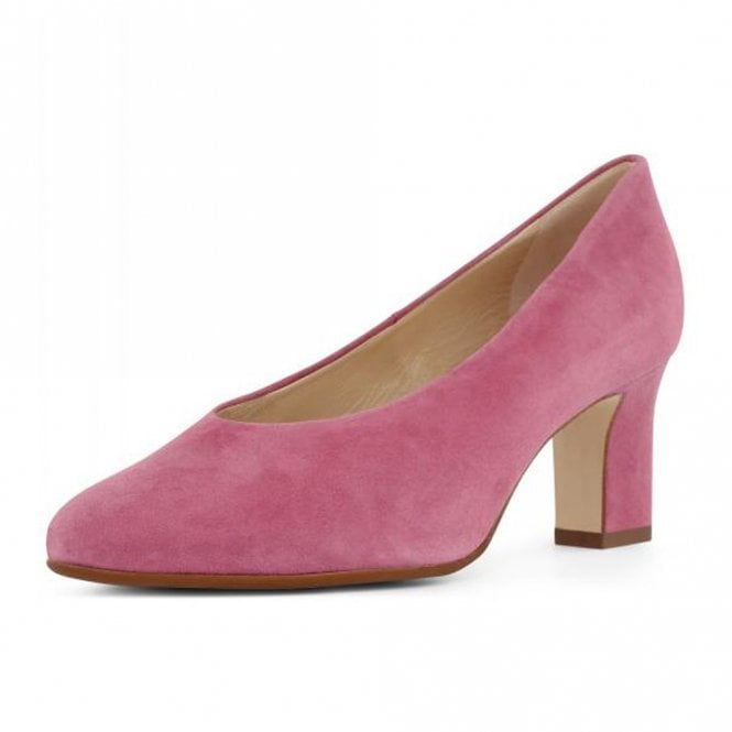 Mahirella Classic Mid Heel Court Shoes in Cassis Suede