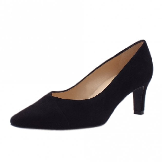 Maike Classic Court Shoes in Black Suede