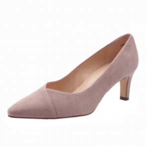 Maike Classic Court Shoes in Mauve Suede
