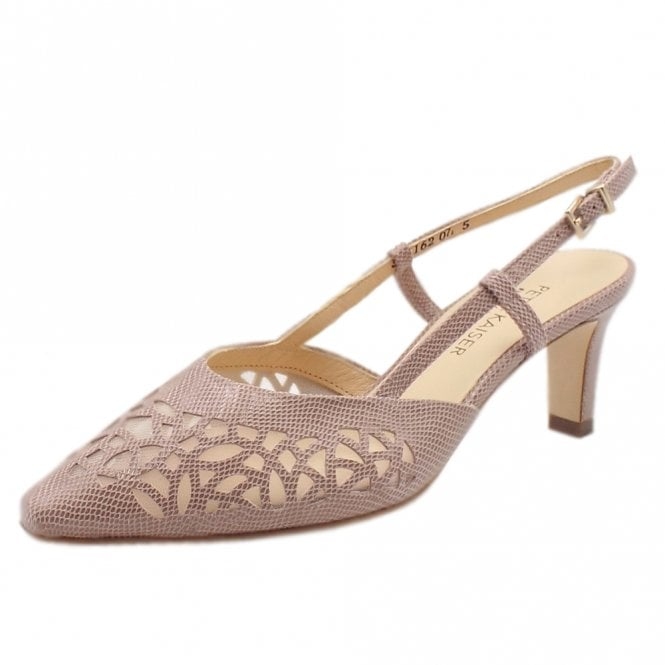 Mailin Mauve Sarto Evening Sandals With Mid Heel