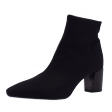 Mairin Fashion Ankle Boot in Black Stretch