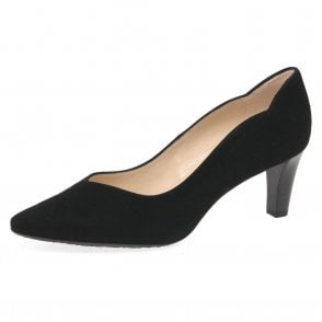Malin-A Classic Court Shoes in Black Suede
