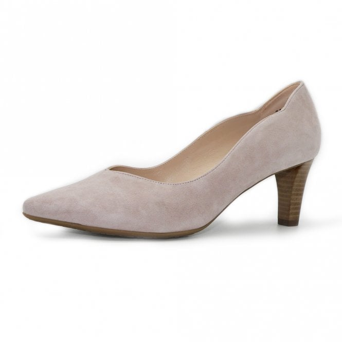 Malin-A Classic Court Shoes in Mauve Suede