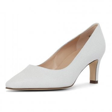 Manolla-A Court Shoes in White Sarto
