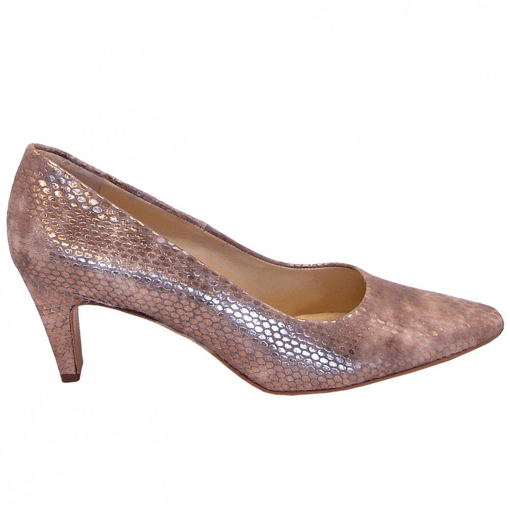 Peter Kaiser Metallic Heels - V-Style