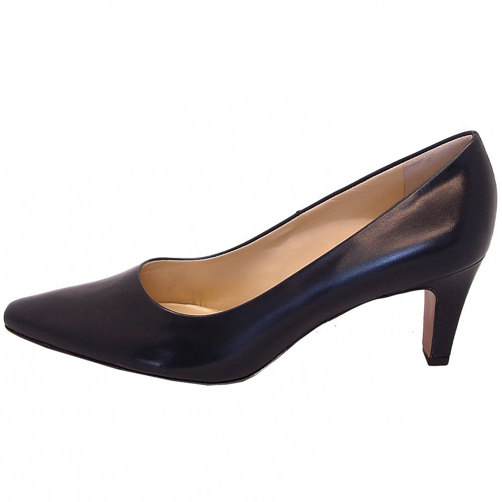 Navy Court Shoes Mid Heel