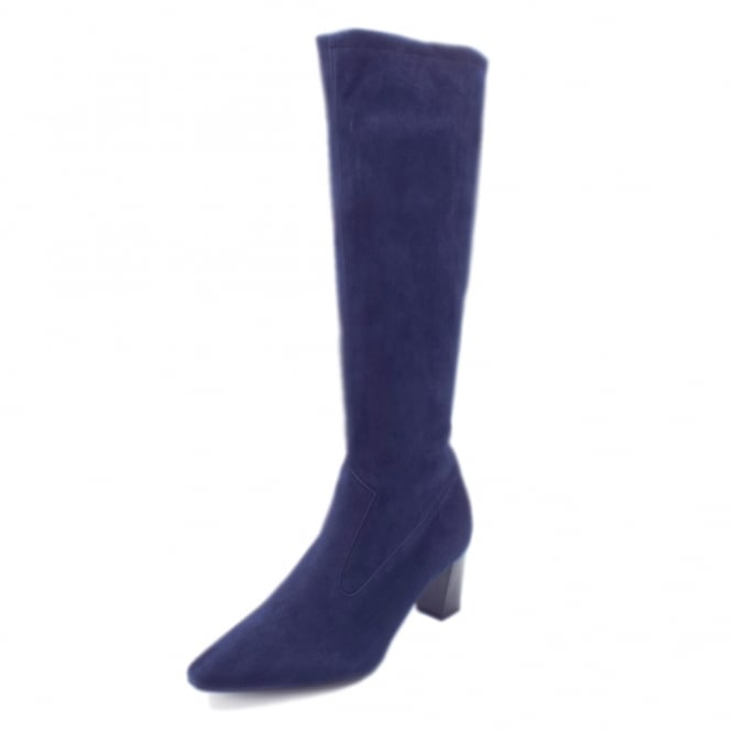 Marabella Notte Freso Stretch Suede Pull On Boots