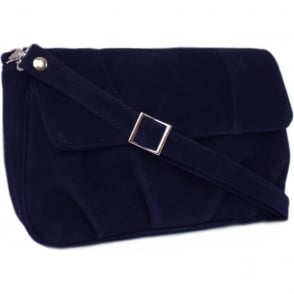 Maria Navy Suede Evening Bag