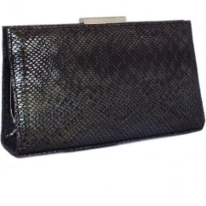 Mariam Black Logger Clutch Bag