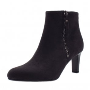 Marian Ladies Fashion Ankle Boot in Carbon Suede