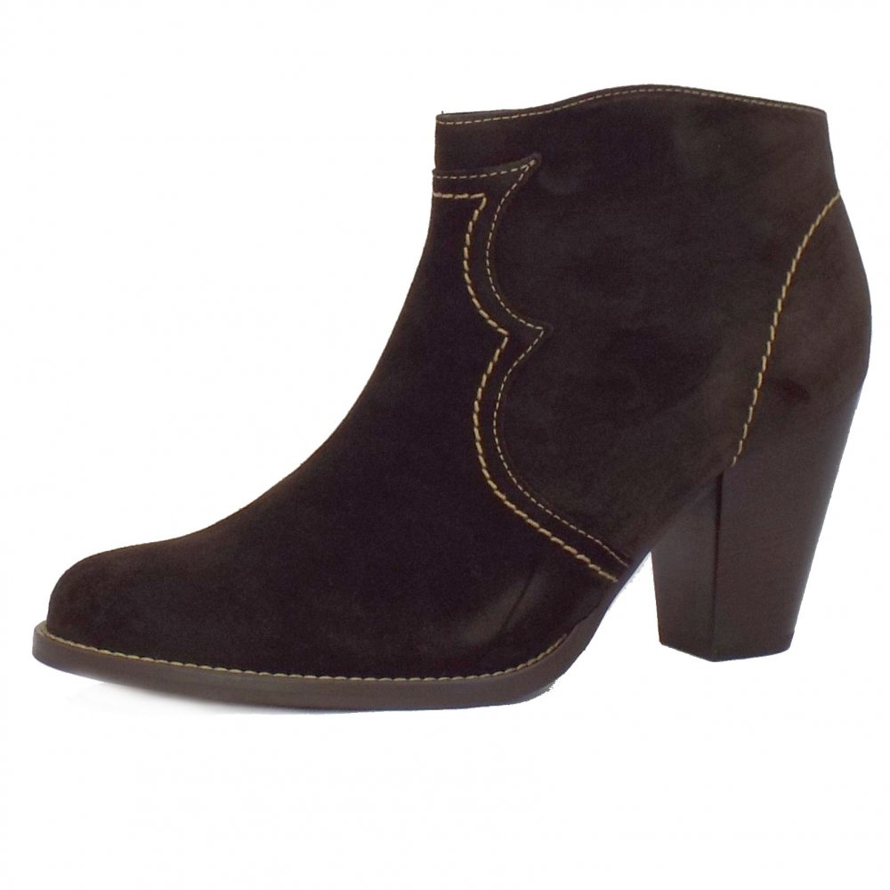 Ladies Suede Ankle Boots - Yu Boots