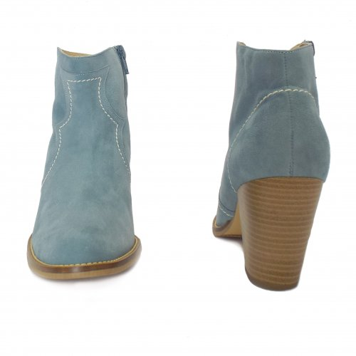 b93ff2a9314ec Peter Kaiser Marisana | Ladies Suede Heeled Ankle Boots in Light Blue