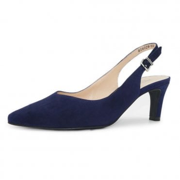 Medana-A Mid Heel Slingback in Notte Suede
