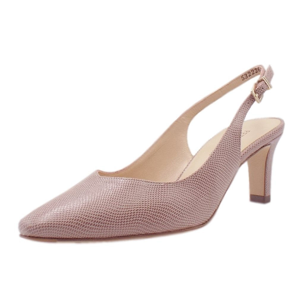2b56c436e76 Medana Dressy Mid Heel Slingback in Mauve Sarto ...