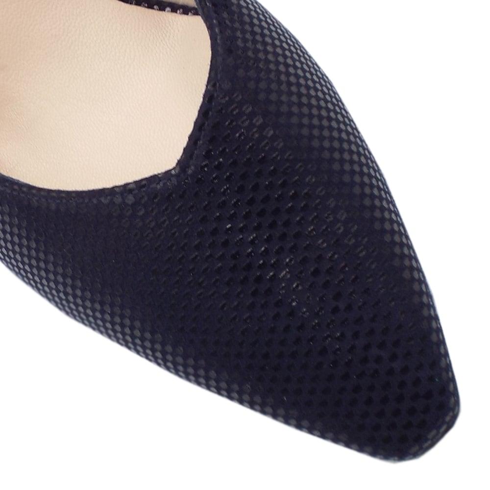 e0c67e581 ... Medana Dressy Mid Heel Slingback in Notte Cube ...