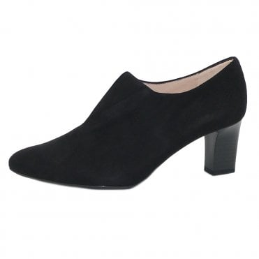 Miaka-A High Top Trouser Shoes in Black Suede