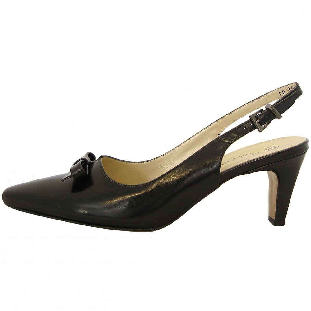 Kitten Heels Slingback Shoes Black
