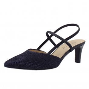 Mitty-A Notte Shimmer Dressy Sling Back Pumps