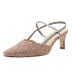 Mitty Dressy Sandals in Powder Shimmer