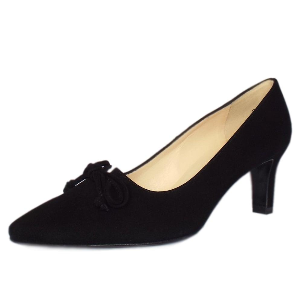 peter kaiser uk mizzy black suede pointed toe mid heel pumps. Black Bedroom Furniture Sets. Home Design Ideas