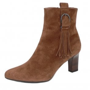 Peter Kaiser Monic Tassel Ankle Boot in Sable Suede