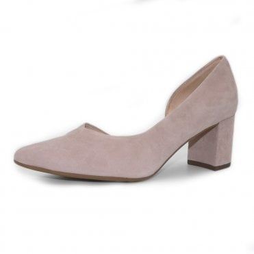 Naimi Court Shoe in Mauve Suede