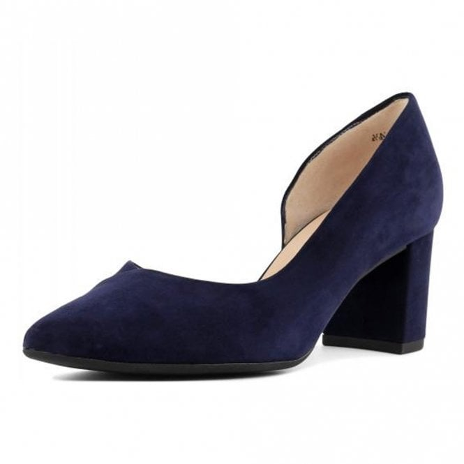 Naimi Court Shoe in Notte Suede