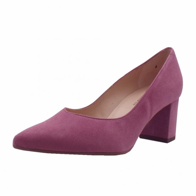 Naja Cassis Suede Block Heel Fashionable Pumps