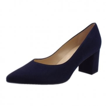 Naja Notte Suede Block Heel Fashionable Pumps