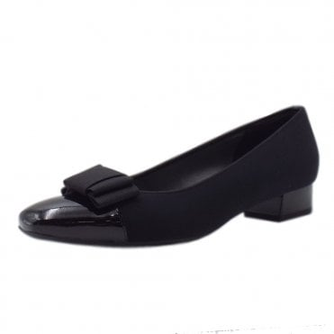 Nancie Plus Fit Low Heel Pumps in Black