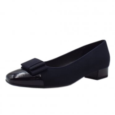 Nancie Plus Fit Low Heel Pumps in Navy