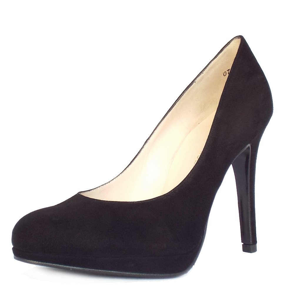 Peter Kaiser UK Nevena | Black Suede Stiletto Pumps | Free UK Delivery