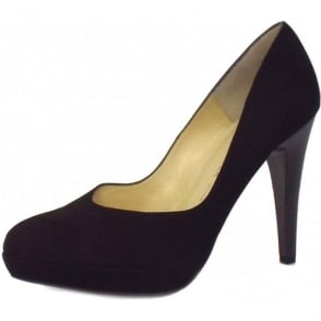 New York Stiletto in Black Suede