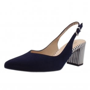 Nexy Notte Suede Sling Back Pumps