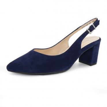 Nexy Sling Back in Notte Suede