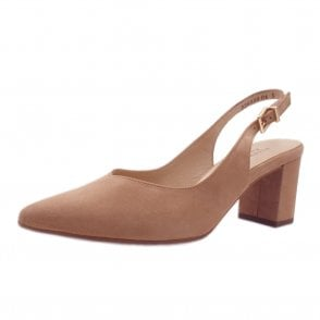 Nexy Sling-back Pumps in Biscotti Suede