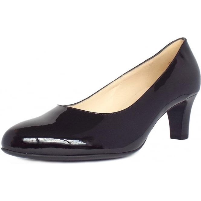 Nika Court Shoes in Black Patent